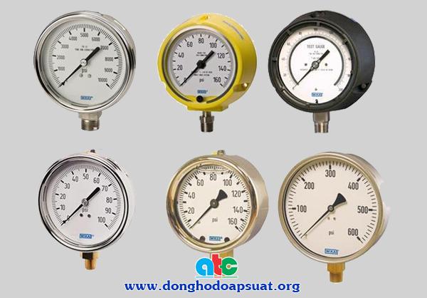 Các loại đồng hồ đo áp suất khí nén Wika