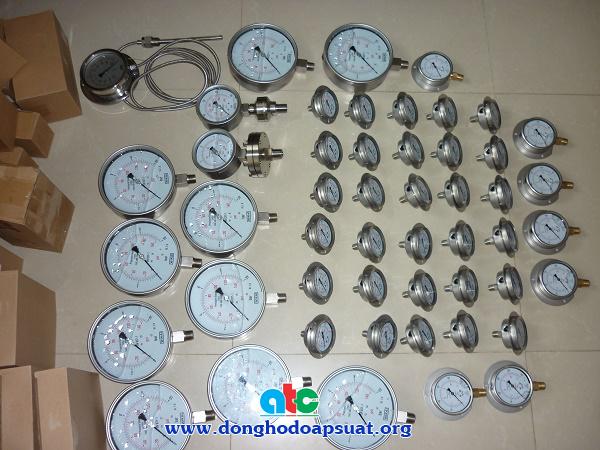 Các loại đồng hồ đo áp suất được cung cấp
