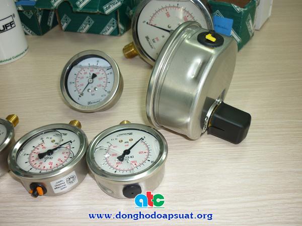 Đồng hồ áp suất Stauff chân đứng và chân sau