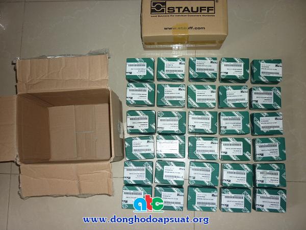 Đồng hồ đo áp suất Stauff có dầu cung cấp cho cty ở Ninh Bình