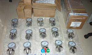 Đồng hồ đo áp suất màng vật liệu inox 316