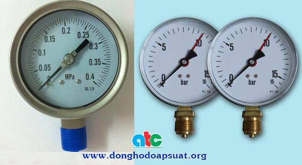 Đồng hồ đo áp suất không có nhãn hiệu cụ thể