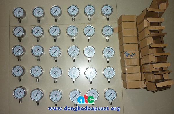 Bán đồng hồ đo áp suất inox dầu