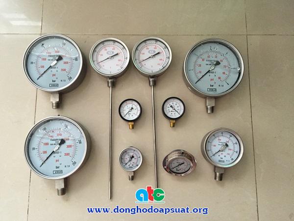 Đồng hồ đo áp suất Vika - Trung Quốc