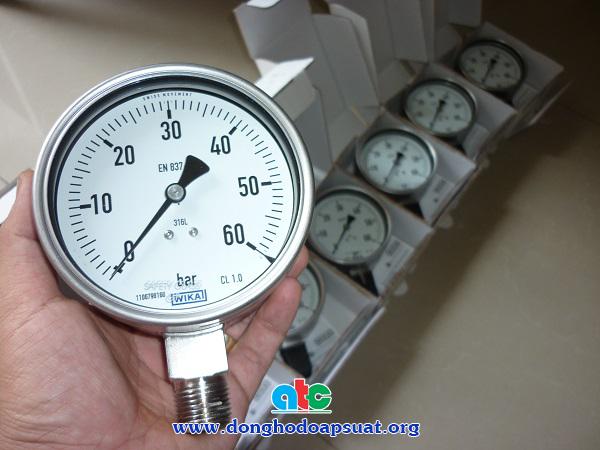 Đồng hồ đo áp suất Wika với mặt kính an toàn - safety glass