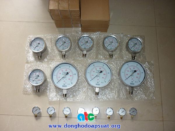 đồng hồ đo áp suất inox dầu nhập khẩu