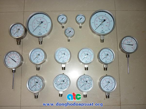 Đồng hồ đo áp suất inox, không dầu cho ngành sx nổi hơi
