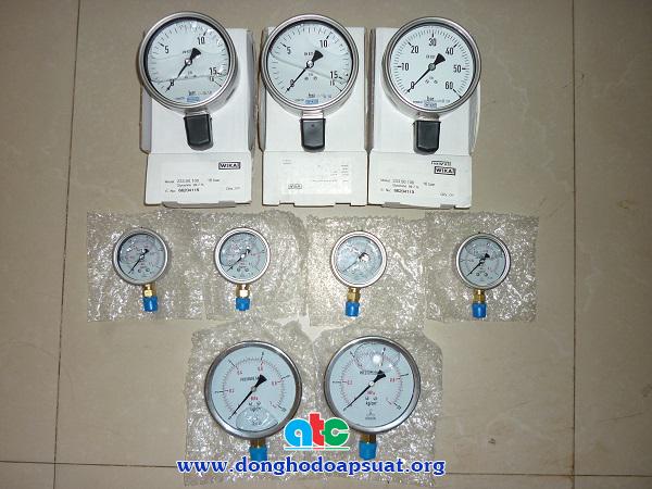 Đồng hồ đo áp suất Wika và áp kế dầu Nisshin