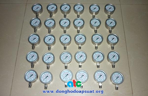 Đồng hồ đo áp suất inox chuẩn bị gửi đi Hải Dương