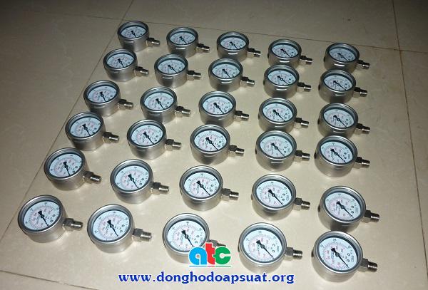 Đồng hồ đo áp suất 100% vật liệu SS316 chất lượng cao