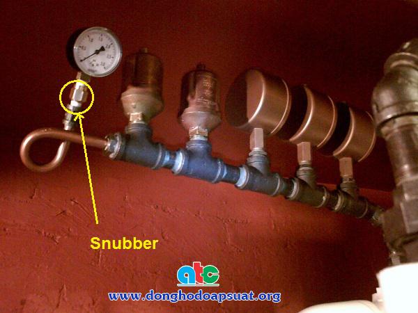 Đồng hồ đo áp suất có gắn Snubber