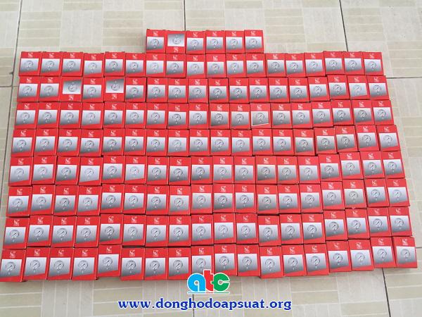 """Đồng hồ đo áp suất Weike Đài Loan, mặt 40mm, chân ren 1/8"""""""