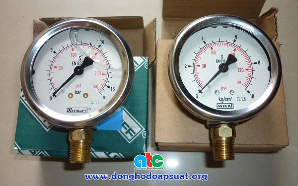 So sánh đồng hồ đo áp suất Stauff và Wika (Germany)