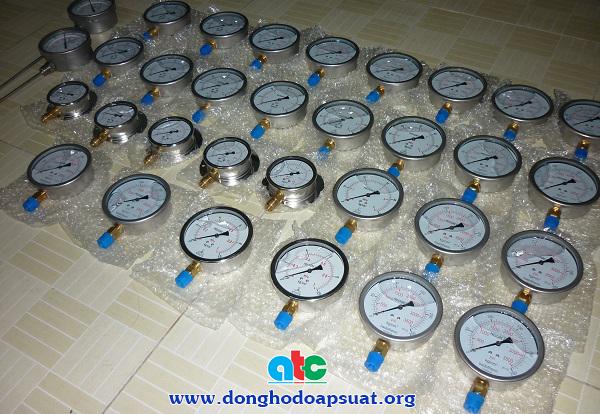 Đồng hồ đo áp suất chân đứng Nisshin các loại