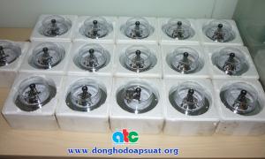 Đồng hồ đo áp suất 3 kim, loại có tiếp điểm điện