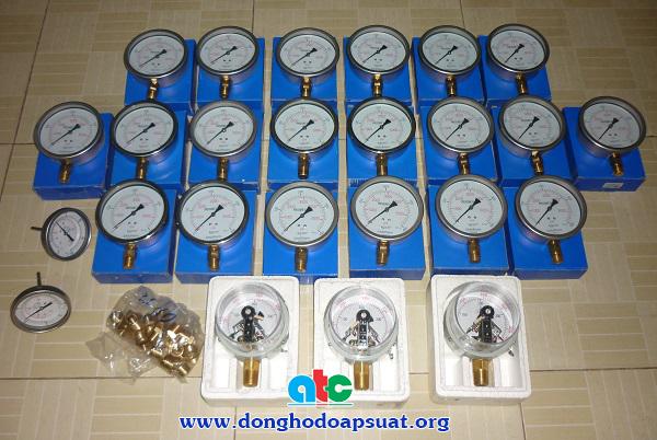Lô hàng đồng hồ đo áp suất khí nén và áp kế 3 kim gửi đi Đồng Tháp