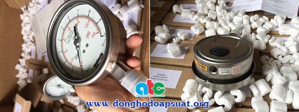 Đồng hồ đo áp suất Fantinelli có đầy đủ chức năng an toàn cho mặt kính và vỏ áp kế