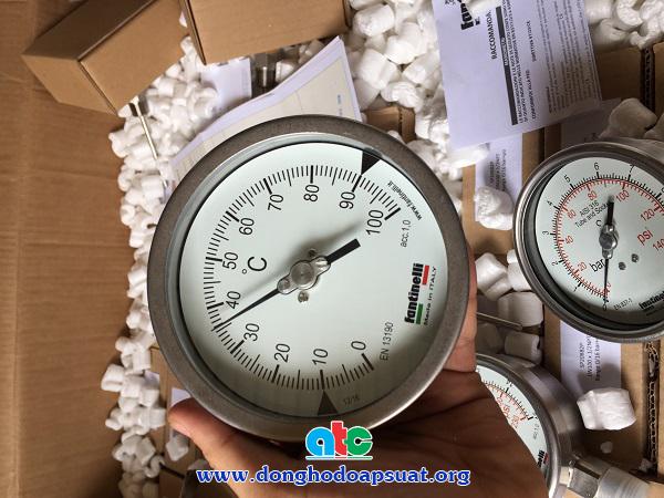 Đồng hồ đo nhiệt độ dạng nhiệt kế lưỡng kim Fantinelli - Ý