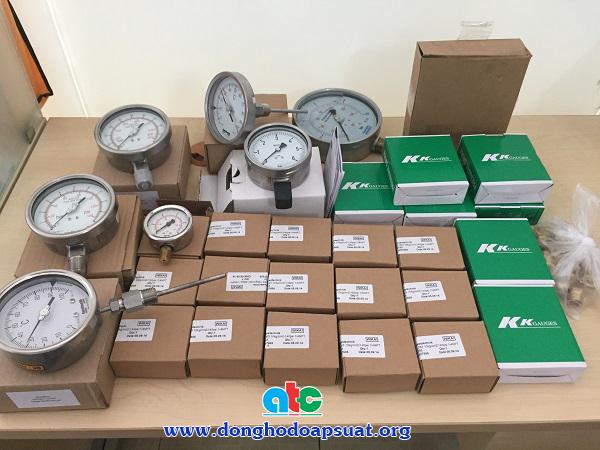 Các loại đồng hồ đo áp suất Fantinelli, Wika, KK, HAMBUM và đồng hồ đo nhiệt độ Fantinelli