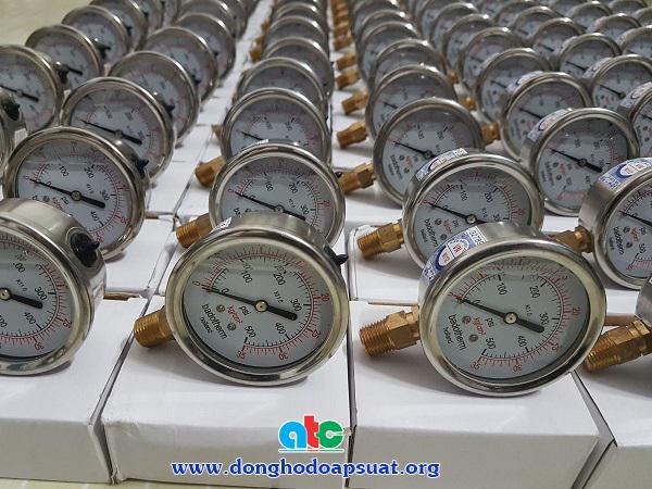 Đồng hồ đo áp suất Badotherm Holland 35kg/cm2