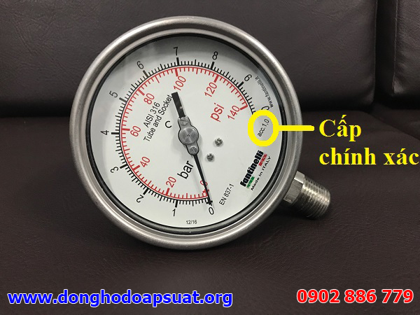 Cấp chính xác đồng hồ đo áp suất nước