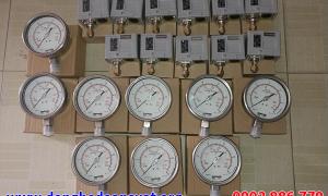 Đồng hồ đo áp suất Fantinelli và Công tắc áp lực HS