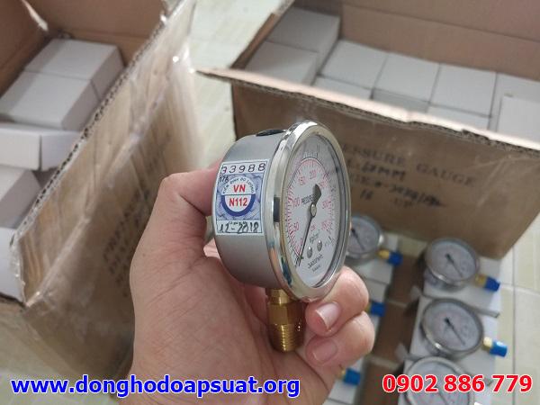 Đồng hồ đo áp suất giá rẻ Badotherm cho ứng dụng test áp nước hệ thống đường ống