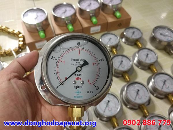 Đồng hồ đo áp suất Nisshin, dong ho ap suat chất lượng tốt, giá rẻ