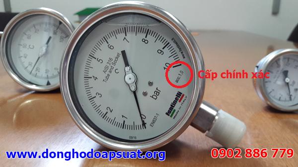 Đồng hồ đo áp suất Fantinelli có cấp chính xác 1.0