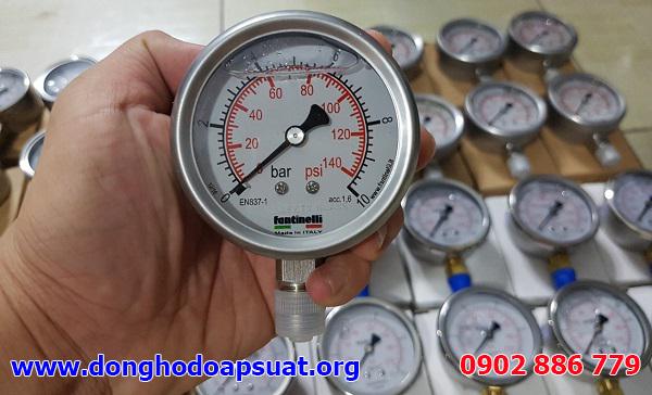 Đồng hồ đo áp suất Fantinelli - sản xuất tại Ý