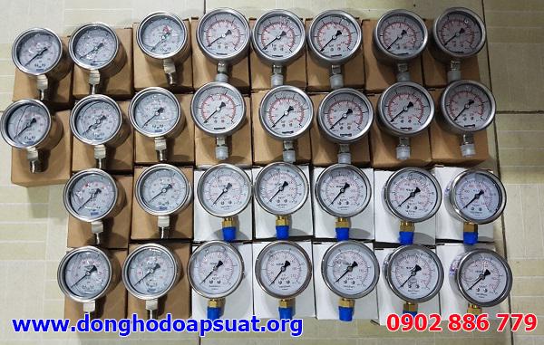 Đồng hồ đo áp suất Fantinelli, Yamaki, Badotherm Holland đã được kiểm định, giao hàng đi Hà Nội