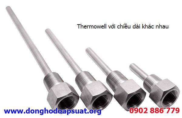 Thermowell - Phụ kiện bảo vệ cho ty đo của đồng hồ đo nhiệt độ kiểu nhiệt kế lưỡng kim