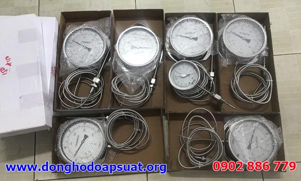 Đồng hồ đo nhiệt độ dạng dây Italy (Kiểu nhiệt kế lưỡng kim), dây dài 3m