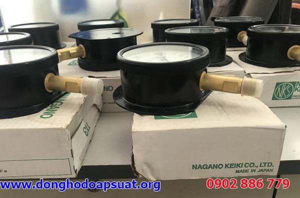 Vỏ hộp đồng hồ đo áp suất Nagano đầy đủ thông tin NSX