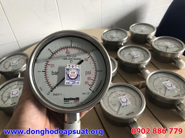 Đồng hồ đo áp suất Fantinelli | Dong ho do ap suat nhập khẩu từ Ý