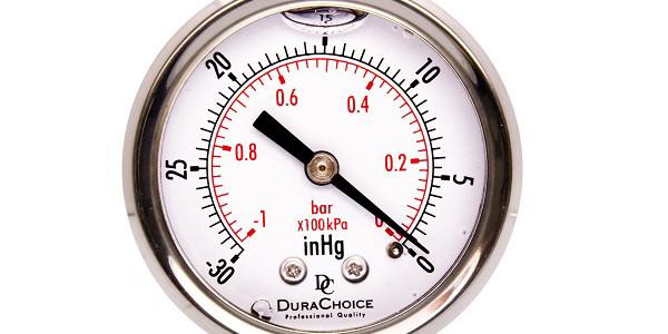 Đồng hồ đo áp suất chân không, giá trị âm