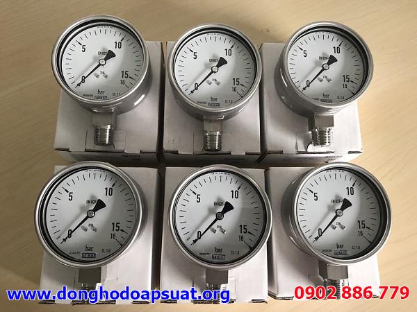 Đồng hồ đo áp suất Wika chính hãng Germany chất lượng, mẫu mã đẹp, đo lường áp lực hiệu quả