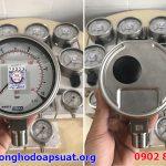 Đồng hồ đo áp suất Wika mặt kính 100mm 0-25bar, kính an toàn safety glass, ren hàn tig