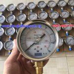 Đồng hồ đo áp suất nước Yamaki có dầu, tuổi thọ cao, giá rẻ